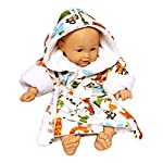 Extra-Soft-Plush-Hooded-Baby-Bath-Robe-for-Infants-Toddlers-Can-be-Personalized-0-9-Months-Ideal-Registry-Gift-Zoo-Two-Embroidered-Name
