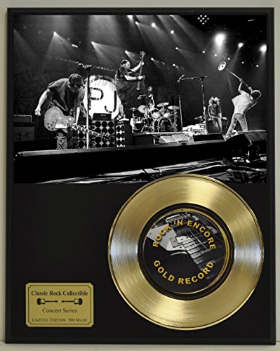 - Pearl Jam Limited Edition Gold 45 Record Display. Only 500 made. Limited quanities. FREE US SHIPPING