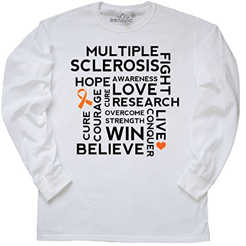 Ms Walk (inktastic Multiple Sclerosis MS Awareness Walk Long Sleeve T-Shirt Small White)