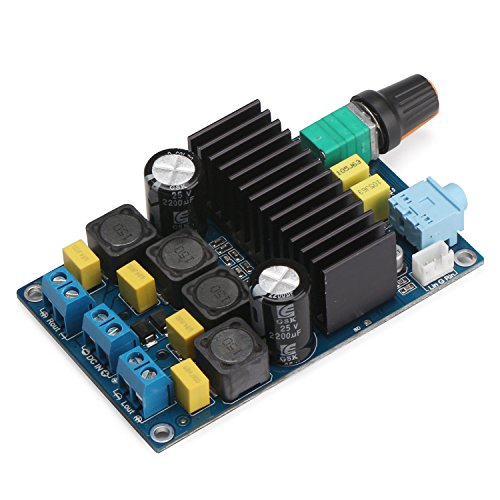 DROK TPA3116 Digital Power Amplifier Board 12-24V High Power Amplifier Module 50+50W Power Amplifier Chip with Volume Adjustment Potentiometer Switch Support PBTL 100W