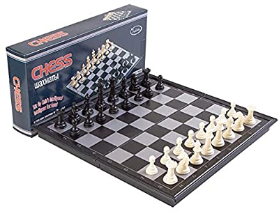 Yarssir Travel Magnetic Folding Chess Checker Board Table Game Set