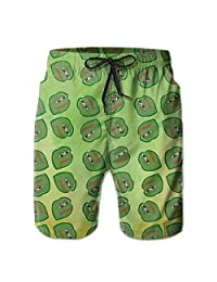 Men's Summer Casual Drawstring Beach BoardShorts Pepe Frog Meme
