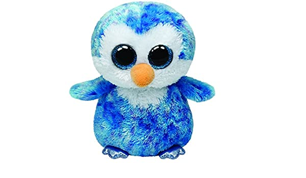 Ty - Ice Cube, Peluche pingüino, 23 cm, Color Azul (37044TY): Amazon.es: Juguetes y juegos