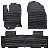 San Auto Car Rubber Floor Mat for Toyota RAV4 2014-2015-2016-2017-2018 Custom Fit Full Black Auto Liner Mats All Weather, Heavy Duty & Odorless
