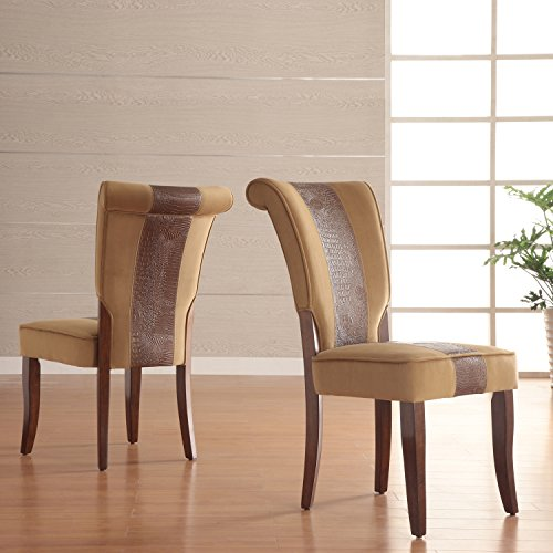 Metro Dining Room Chair - Metro Shop TRIBECCA HOME Andorra Velvet and Faux Alligator Leather Dining Chair (Set of 2)