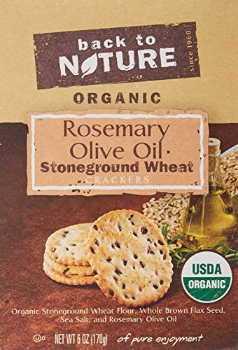 (Back to Nature Crackers, Organic Rosemary & Olive Oil Stoneground Wheat, 6)