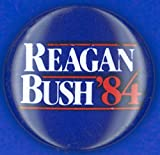Presidential Campaign 1984 Nrepublican Campaign Button From The 1984 Presidential Election Featuring Ronald Reagan And George Herbert Walker Bush Poster Print by (24 x 36)
