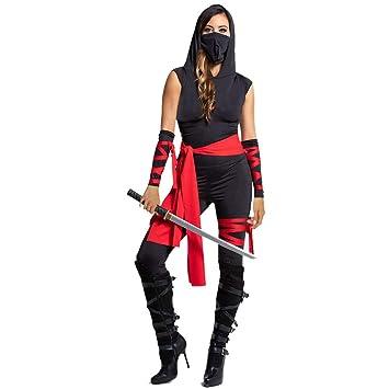 0-0 Mujeres Adultas De Halloween Traje De Terror Mono Ninja ...
