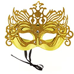 Sexy Mysterious Gorgeous Gold Mask for Halloween Masquerade Masks mascaras masque antifaz