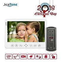 JeaTone 7 Color Indoor Monitor Video Doorbell Door Phone Intercom Remote Unlocking Surveillance Smart Home Security Camera System