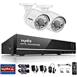 SANNCE 8Channel 5-in-1 DVR Security Camera System HD-TVI 1080P Lite Video DVR and (2) 720P Indoor/Outdoor Weatherproof Bullet Cameras with Night Vision(NO Hard Drive)