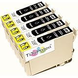 *TITOPATEN* 5x Epson Stylus Office BX 535 WD Plus kompatible XL Druckerpatrone ersetzt Typ T1291 - 1294 - Schwarz - Patrone MIT CHIP !!!