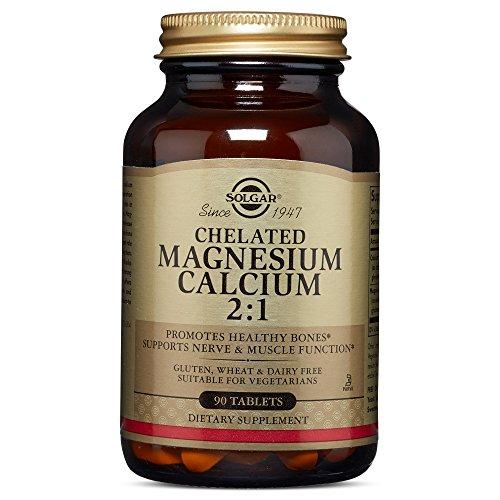 Solgar – Chelated Magnesium Calcium 2:1, 90 Tablets (Calcium Chelated)