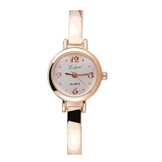 Reloj De Pulsera Demiawaking Lvpai Relojes Reloj De Pulsera De Oro Vestido De Regalo Relojes (Oro+Blanco): Amazon.es: Relojes