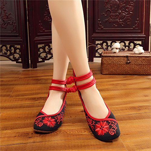 Cheongsam Dance Casual Black Womens Matched Shoes Chinese AvaCostume Shoes qEwRYn