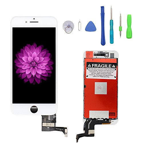 iPhone 7 Plus Screen Replacement White, LCD Display & Touch Screen Digitizer Frame Cell Assembly Set with 3D Touch Free Repair Tool for iPhone 7 Plus 5.5'' White by YOU XIN