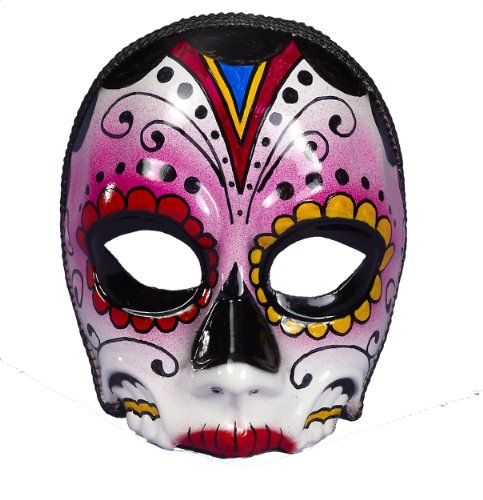 Forum Novelties Women's Day Of The Dead Female Costume Mask, Multi Colored, One ()