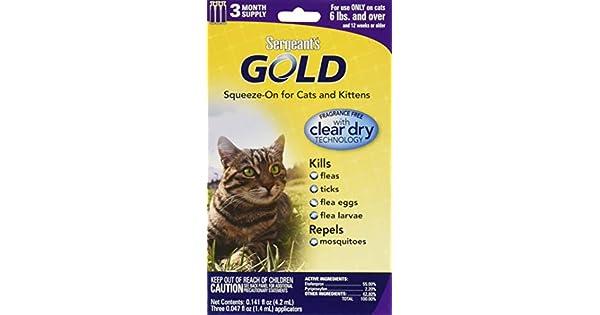 Amazon.com: Sargento de oro Flea and Tick squeeze-on Cat ...