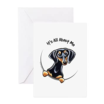 Amazon cafepress black tan dachshund greeting card note cafepress black tan dachshund greeting card note card birthday card blank m4hsunfo