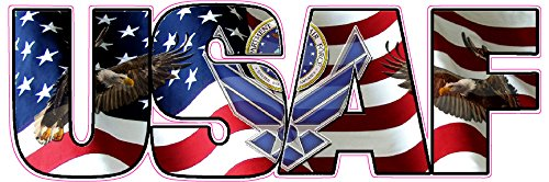 United States Air Force American Flag Eagle Lettering Decal 8