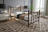 DHP Manila Metal Bed with Victorian Style Headboard and Footboard, Includes...