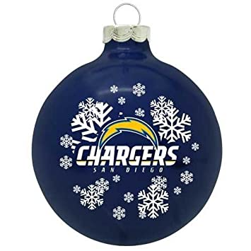 Amazon.com : San Diego Chargers Small Painted Round Christmas Tree ...