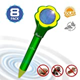 Mole Repellent Solar Powered Pest Repeller Gophers Repel (yellow)