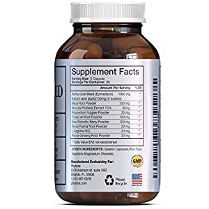 1000 mg All Natural Horny Goat Weed Extract Pills with Maca Root Powder Top Rated Male and Female Enhancement Supplement Pure Libido Enhancer Best Herbal Booster for Women and Men by Nature Berg