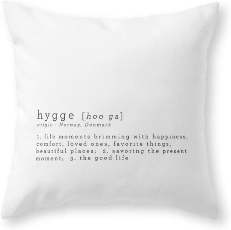 """Roses Garden THE MEANING OF HYGGE 18"""" x 18"""" Throw Pillow Indoor Cover(not include insert)"""