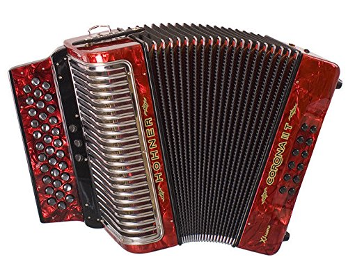 NEW Hohner CXIIFR Corona II T Extreme 3 Switch Accordion Red FBbEb FA Germany