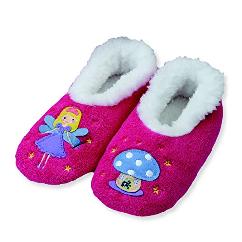 Snoozies Kidz Embroidered Fairytale Non Skid Slipper Socks - Fairy, Small Fairy Tale Country Girl