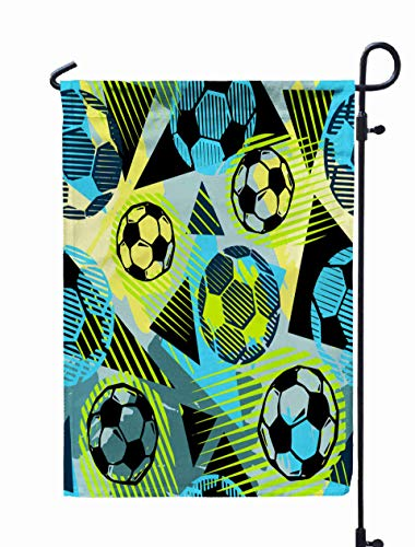 Musesh 12x18 Halloween Yard Flag, Textile Football Doodle Pattern Grunge Texturetrendy Modern Ink Artistic Design Authenticunique Scrapes for Home Outdoor Decorative with Double-Sided Printing