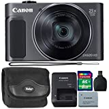 Canon PowerShot SX620 20.2MP HS Digital Camera (Black) + 8GB Memory Card + Reader + Camera Case