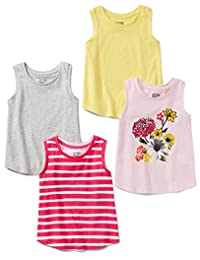 Spotted Zebra girls 4-pack Tank Tank Top
