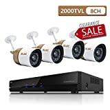 ELEC 8-Channel 1080N CCTV Security Camera System, 720P AHD DVR Recorder with Four 2000TVL Indoor/Outdoor Weatherproof Surveillance Cameras