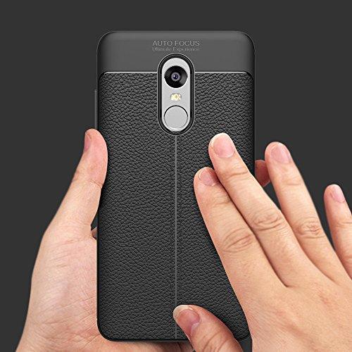 Xiaomi Redmi Note 4X Hülle, MSVII® Anti-Shock Weich TPU Silikon Hülle Schutzhülle Case Und Displayschutzfolie für Xiaomi Redmi Note 4X - Schwarz JY90053