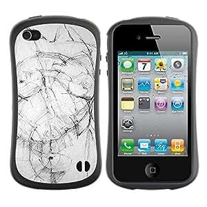 Suave TPU GEL Carcasa Funda Silicona Blando Estuche Caso de protección (para) Apple Iphone 4 / 4S / CECELL Phone case / / Body Image Art Drawing Pencil /