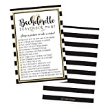 25 Bachelorette Scavenger Hunt Party Games, Girls Night Out Weekend Fun Naughty Cards for Scavenger Hunt, Drinking and Dares, Funny Novelty Decoration and Supplies Idea for Adult Woman Ladies Parties