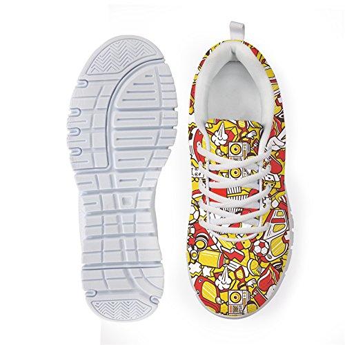 Bigcardesigns Kvinnors Mode Löparskor Sneakers Snörning Stil 6