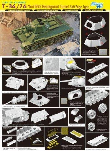6424 1/35 T-34/76 Mod.'42 Hexagonal Turret Soft Edge by Dragon Models USA