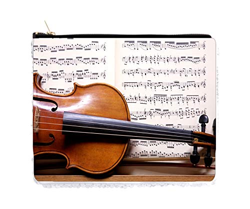 Music Violin and Notes Sequin Case (Ode To Joy Music Notes For Violin)