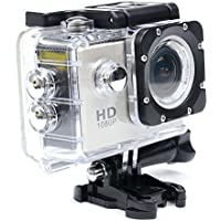 Full HD 1080P 12 MP Waterproof Sports Camera Cam - HDMI Output Underwater Action Camera - 1.5 Inch LCD Screen - 170 Degree Super Wide Angle Lens and free Accessories Gold