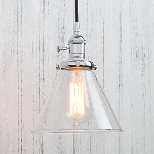 Glass Funnel Pendant Light in Florida - 1