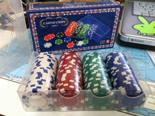 CHH Poker Casino Dice Style Chips Set (100 Piece), 11.5 gm -