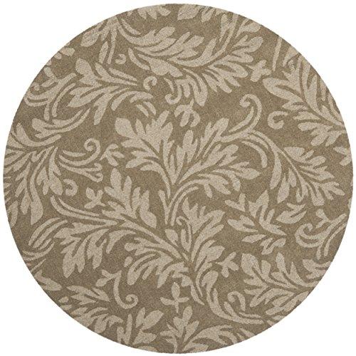 Safavieh Impressions Collection IM344A Handmade Brown Premium Wool Round Area Rug (5' Diameter)