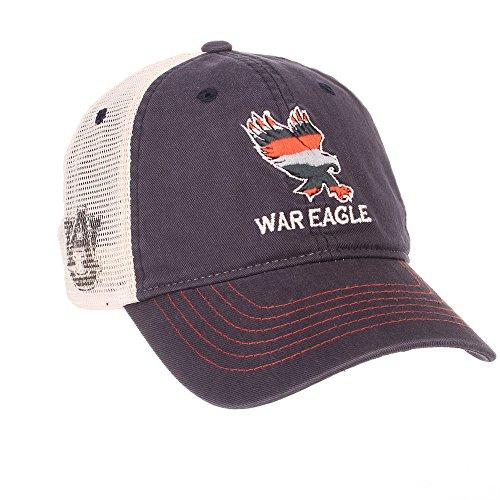 Elite Fan Shop Auburn Tigers War Eagle Trucker Icon Hat - (War Trucker Hat)