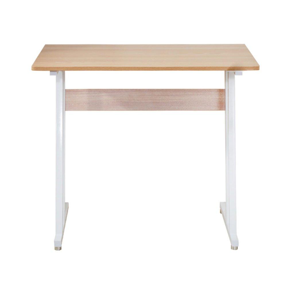 LS-Office Equipment Creative Computer Desk - Desk Home Student Computer Desk Portable Removable Bed Desk/Desk Bed Table Standing Table Home Mobile Desk /& (Color : Wood)
