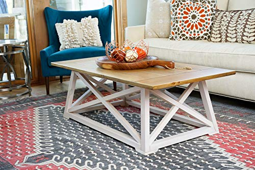 Alveare Home 8008-762 Fallon Coastal Coffee Table, Two-Toned
