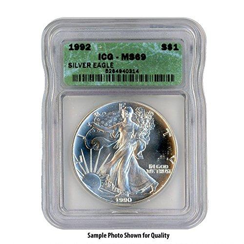 1992 American Silver Eagle $1 MS69 ICG