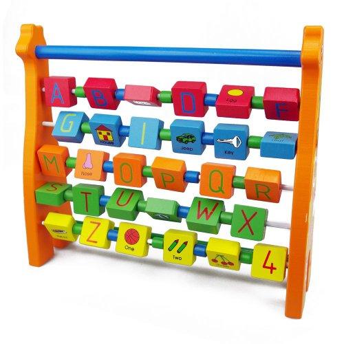 Wooden Toys Wooden Alphabet Giraffe Abacus